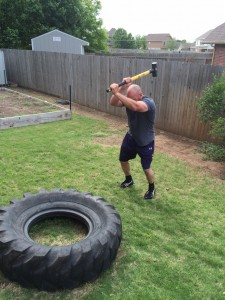 A non-traditional workout that improves two of the four key attributes. Spend 20 minutes beating on a tire with a sledge hammer in intervals of 1 minute work/rest, and I promise you will improve your cardiovascular fitness, grips strength, and midsection toughness.