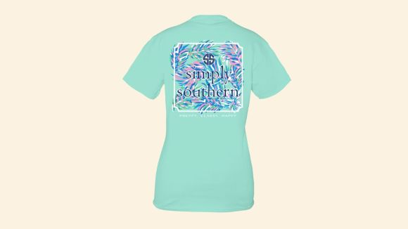 Women's Simply Southern Short Sleeve Abstract Logo T-Shirt -Surf
