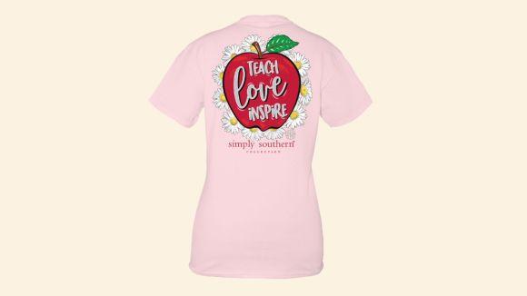 Women's Simply Southern Teach Love Inspire T-Shirt