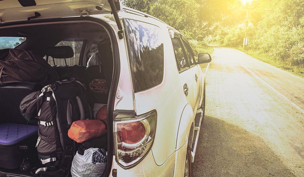 Car filled full of bags