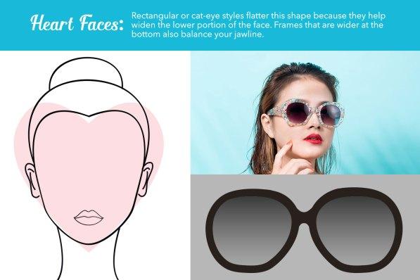 heart face sunglasses guide