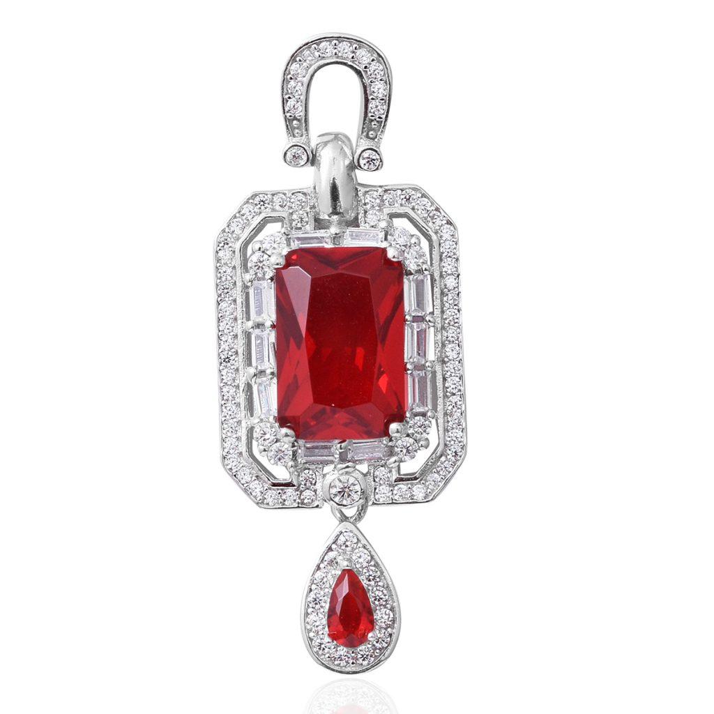 Bright red pendant