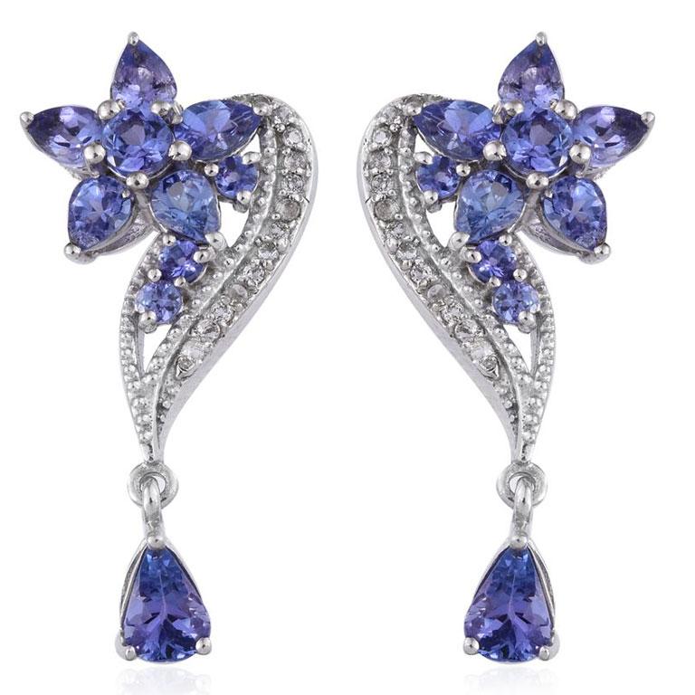 Tanzanite earrings make for perfect wedding jewelry.