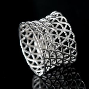Sterling Silver Net Ring