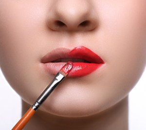 A subtle lip stain is a great alternative to heavy lip stick.