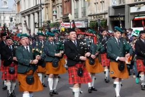 Live Band at St. Patrick's Day Parade.