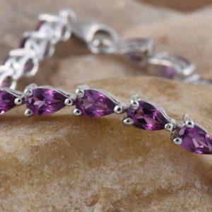 Umbalite line bracelet in sterling silver.