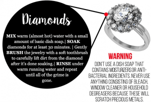 Tips and Tricks to Cleaning Diamond