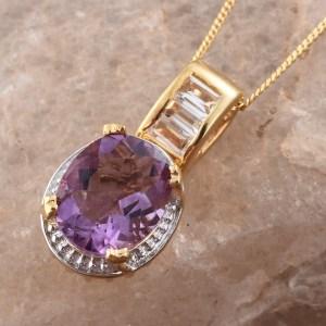 Purple fluorite pendant designed by Giuseppe Perez.