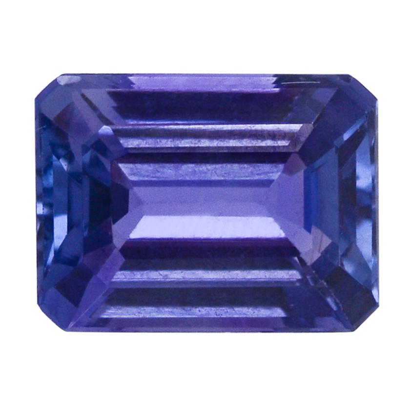 Loose tanzanite gemstone in octagon shape.