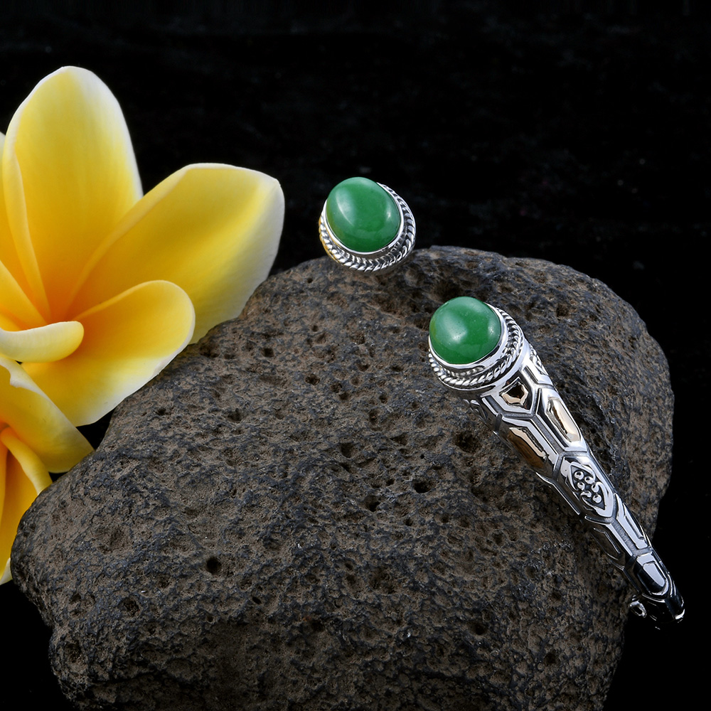 Jade bangle bracelet.