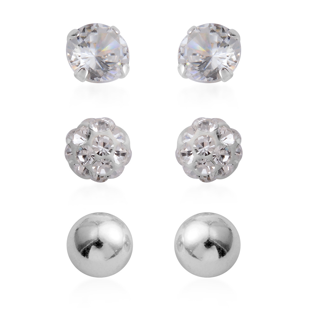 Closeup of 6 pairs of earrings