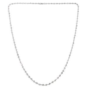 Polki diamond necklace chain.