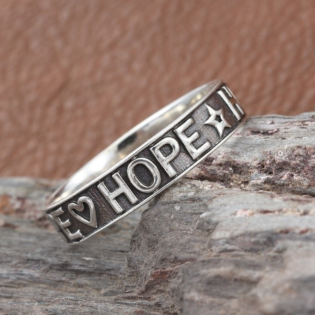 Hope engrave ring