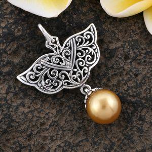 Golden South Sea cultured pearl pendant.