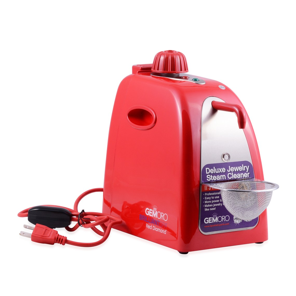 Red GEMORO steam cleaner.