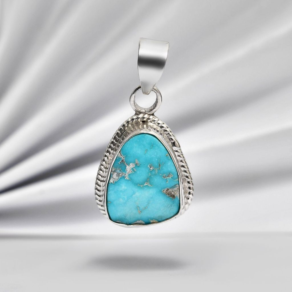 South Hill Turquoise pendant in sterling silver.