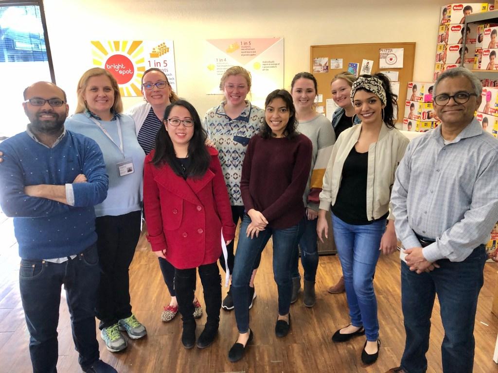The Shop LC team at Austin Diaper Bank.