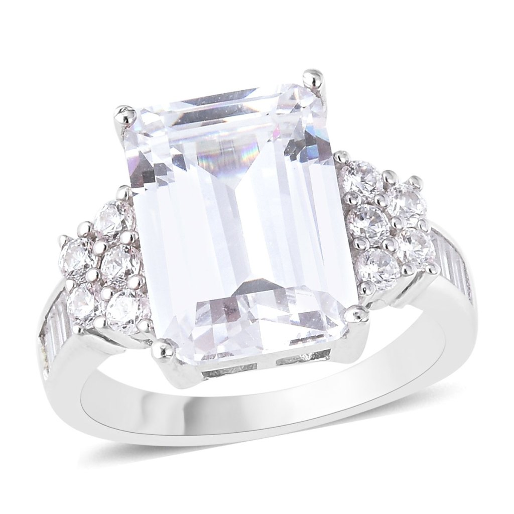 3456994 Lustro Stella Premium Cubic Zirconia Ring in Sterling Silver