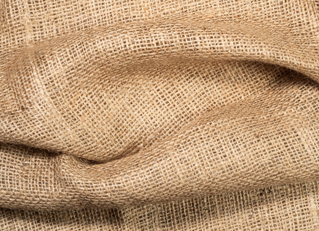Fabric with hopsack texture.