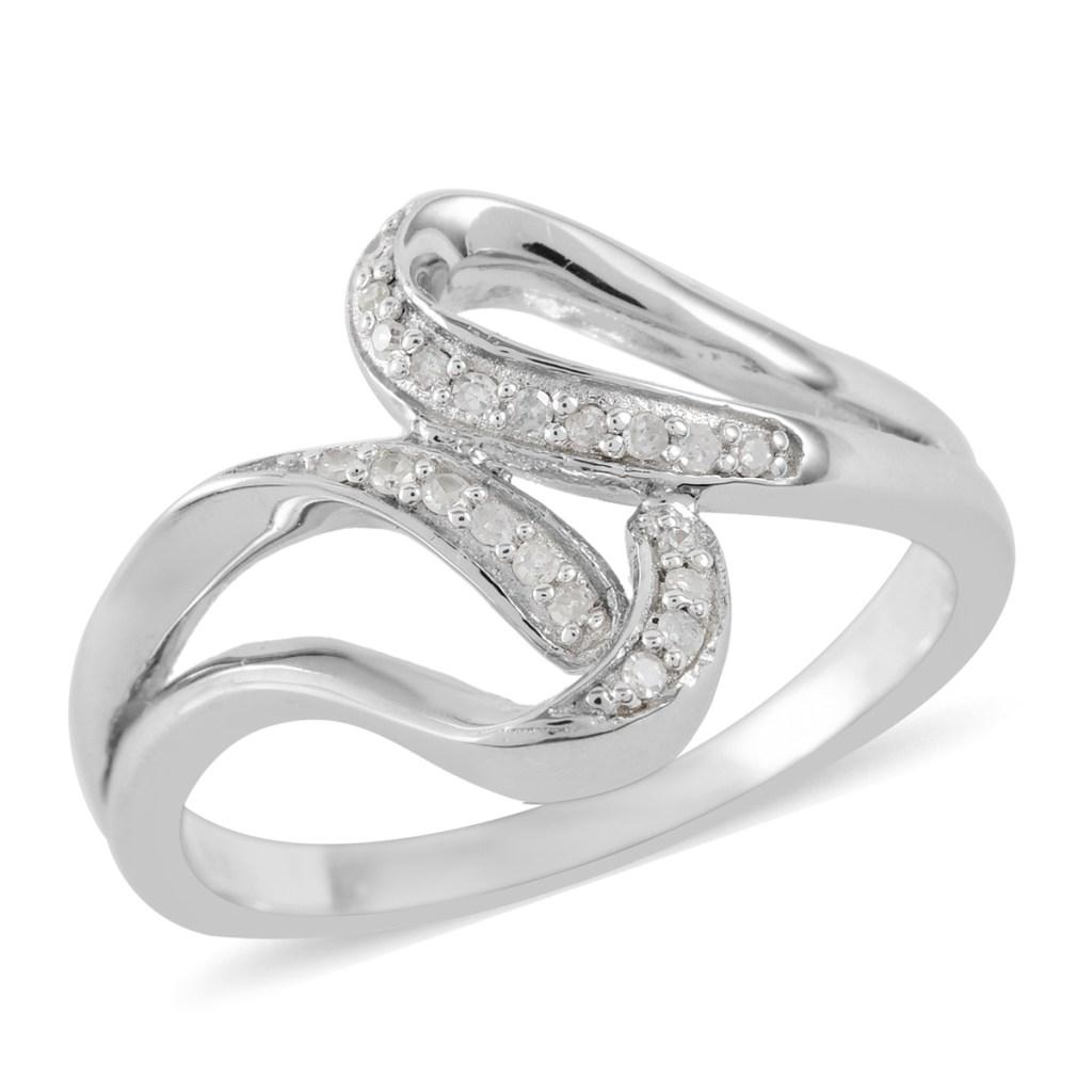 Diamond split shank ring.