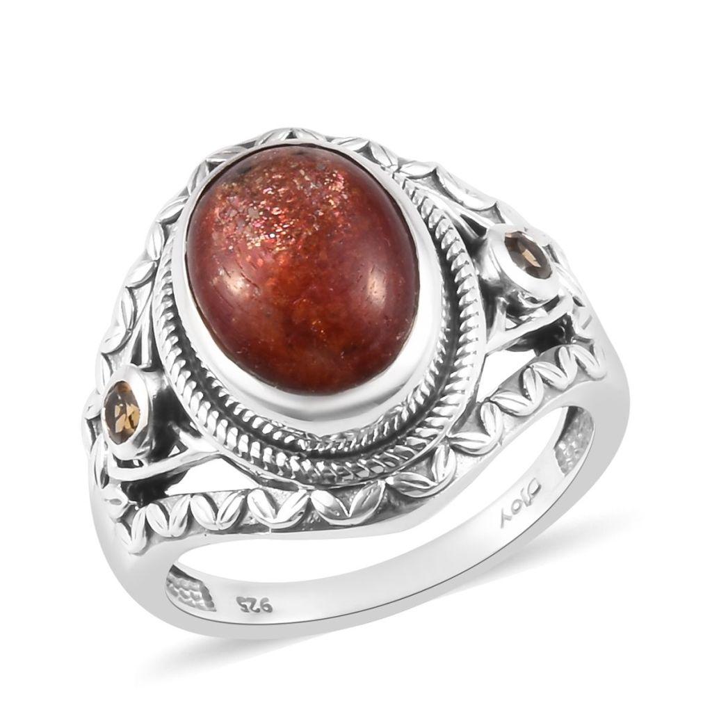 Korevora Sunstone ring in sterling silver.