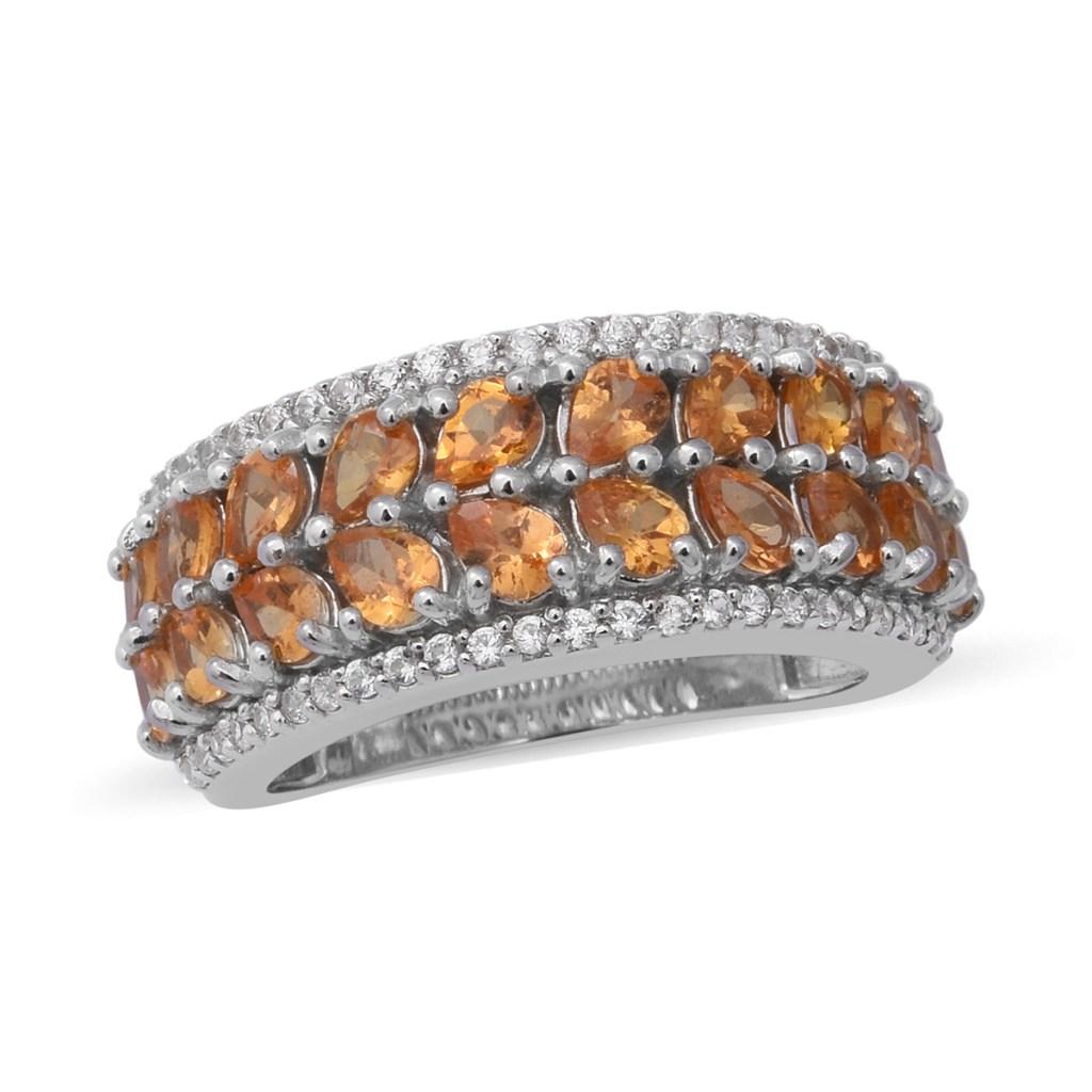 Spessartite ring in sterling silver.