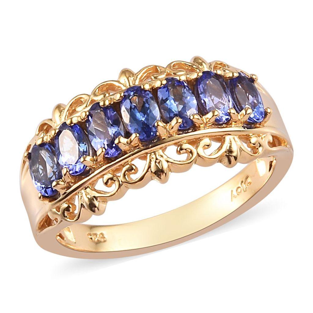 Gold tanzanite ring.