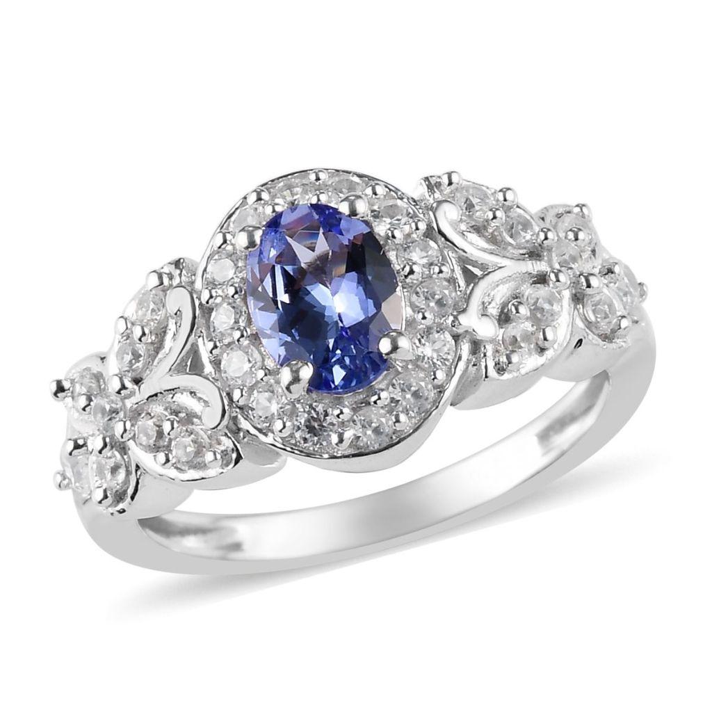Vintage style tanzanite ring.