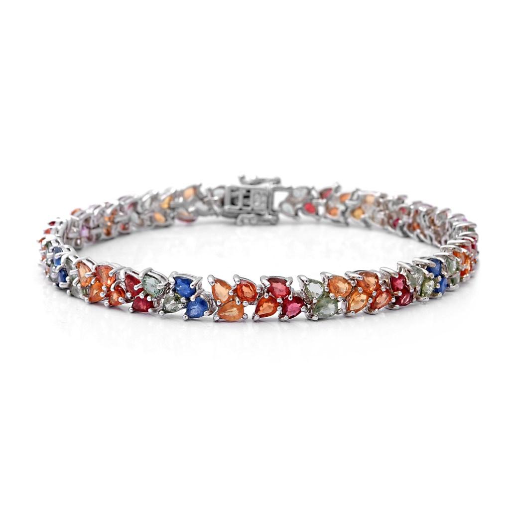 Fancy sapphire tennis bracelet.