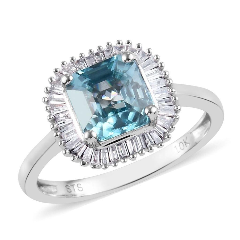 Blue zircon ballerina ring.