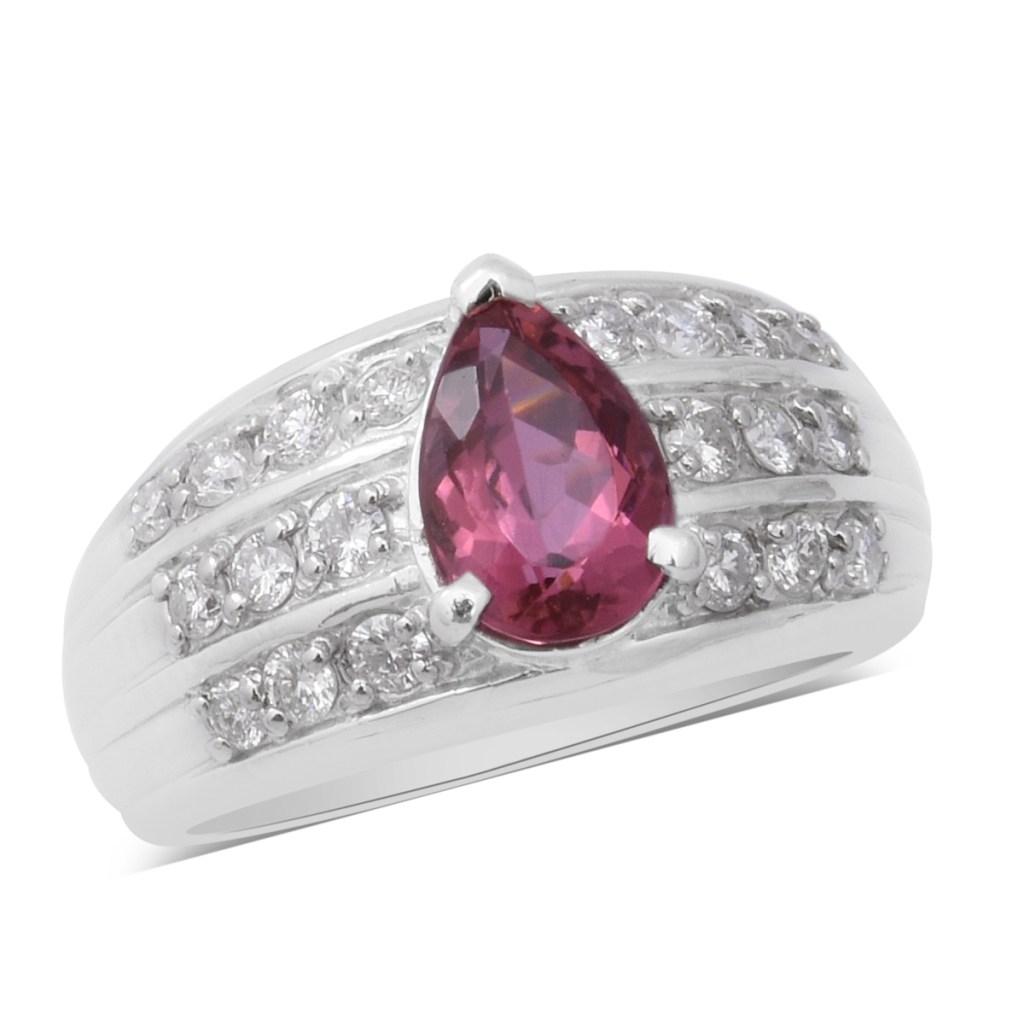 Signature Collection platinum pink tourmaline ring.