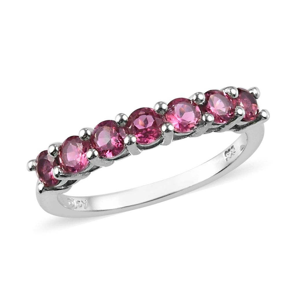 Genuine pink tourmaline ring.