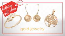 Gold jewelry holiday gift ideas.