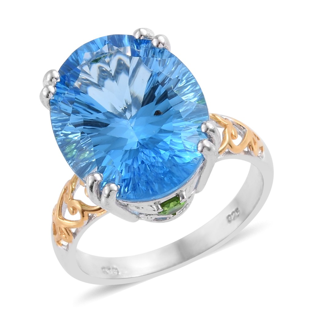 Blue topaz cocktail ring.