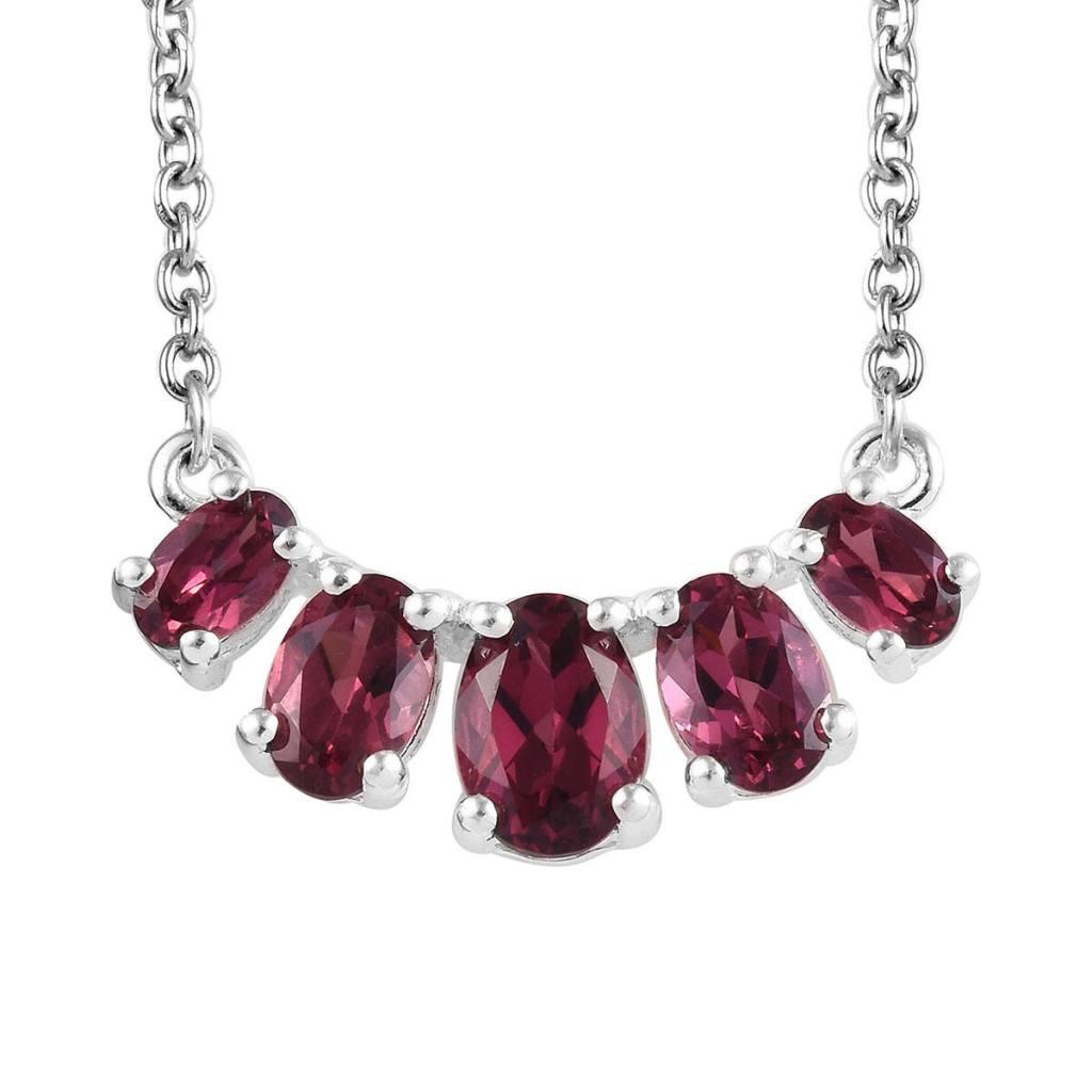 Rose garnet necklace.