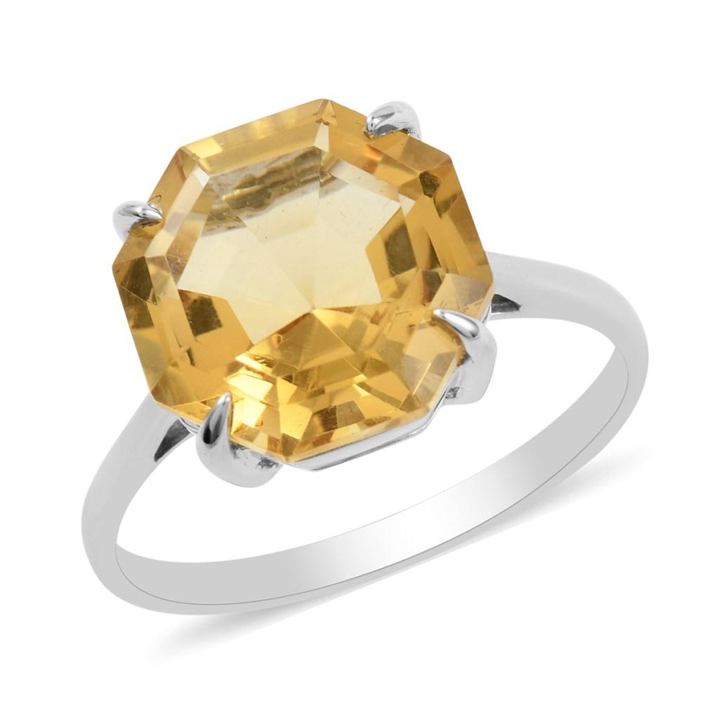 Sterling silver citrine ring.