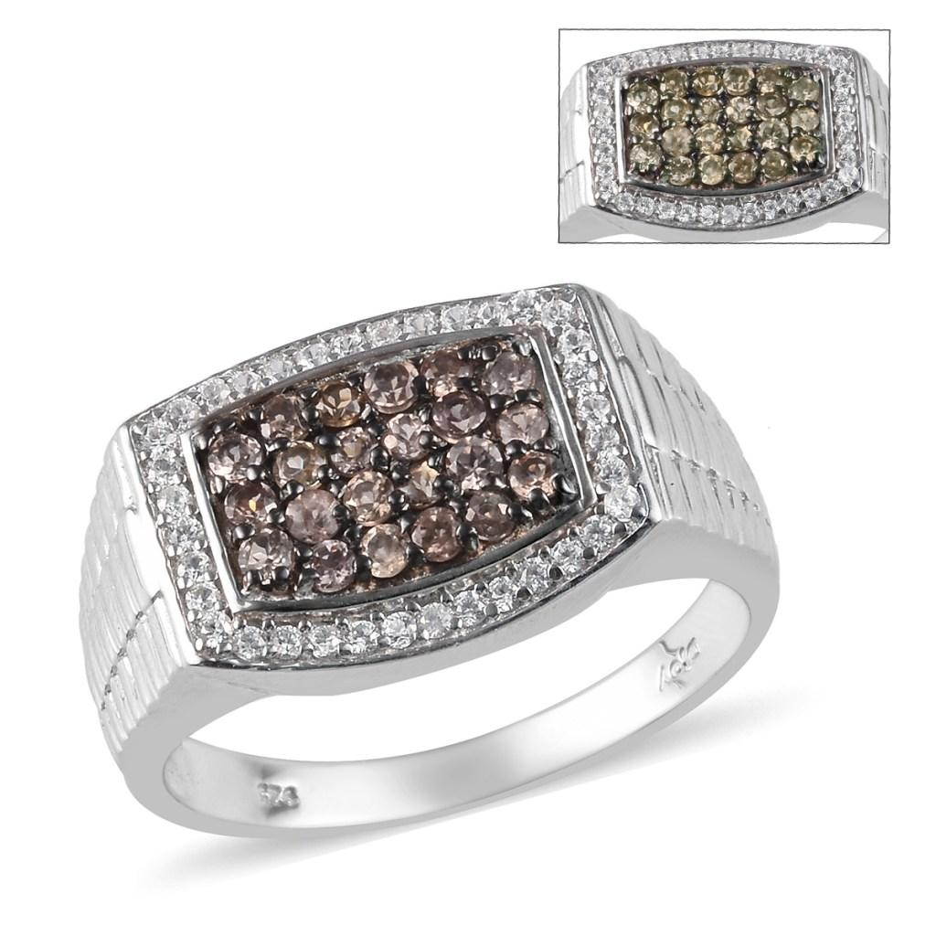 Garnet men's ring.