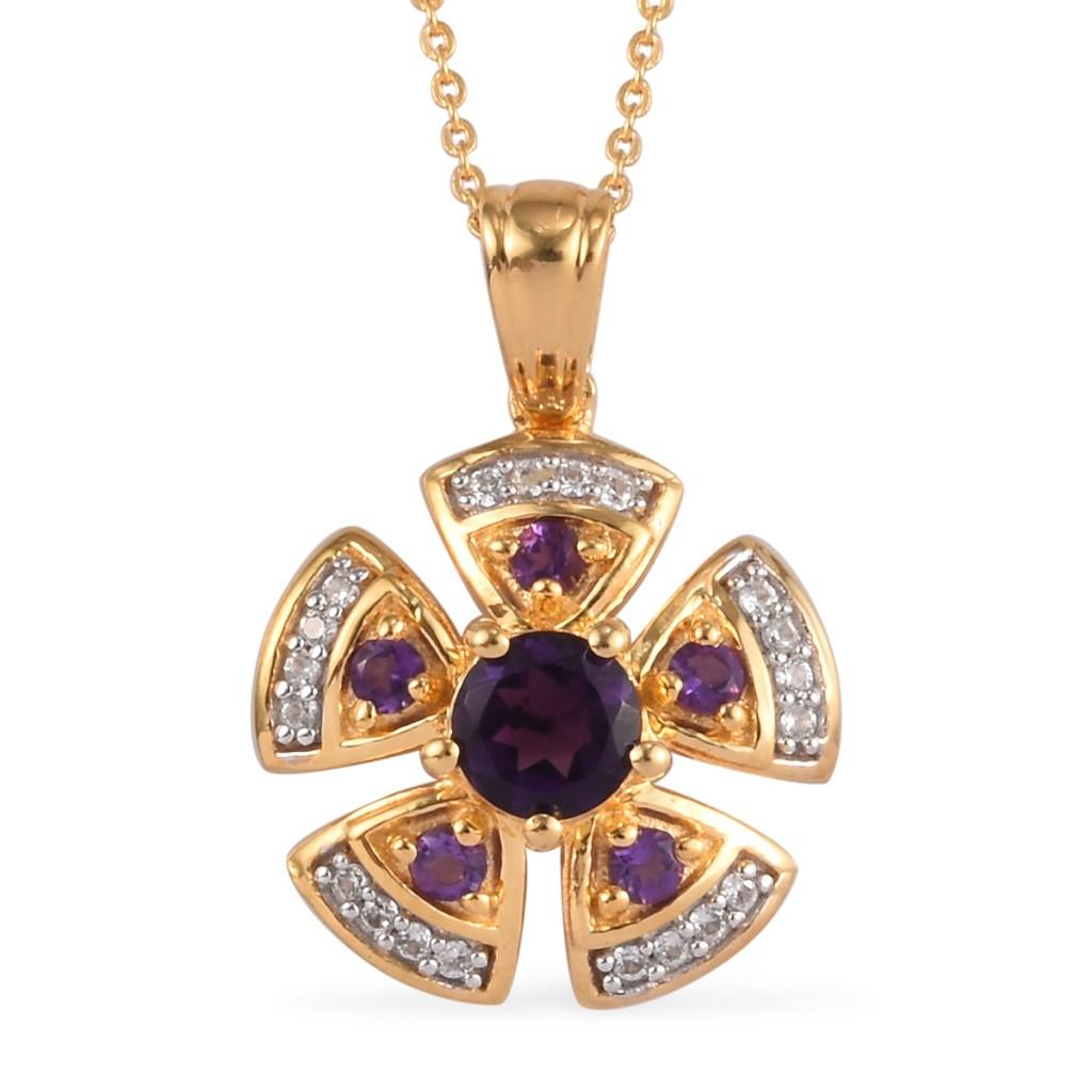 Gold amethyst pendant.