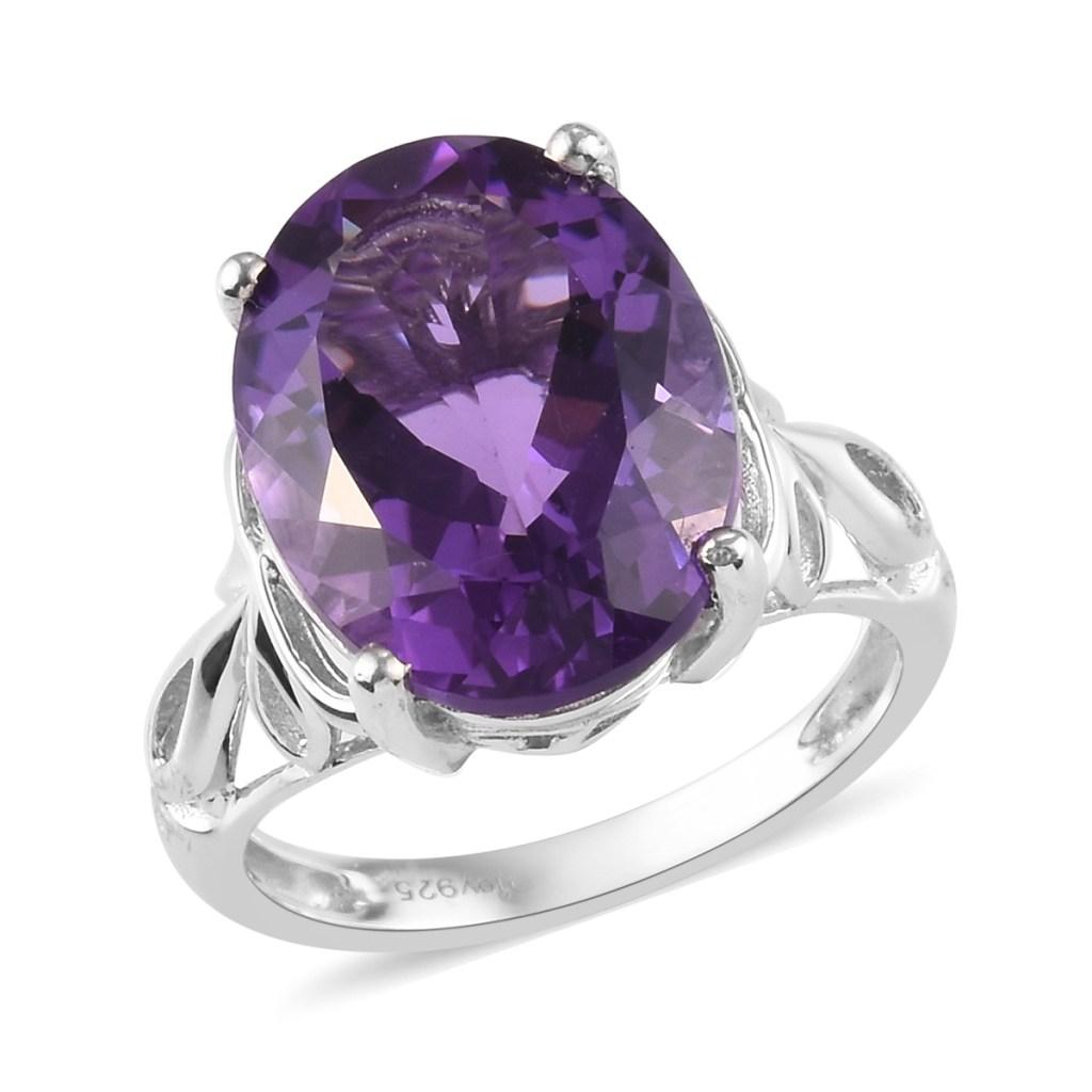 Bolivian amethyst ring.
