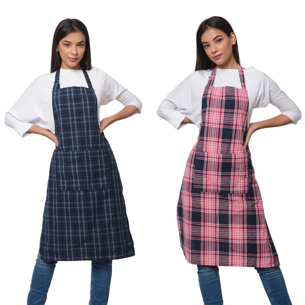 Women wearing cute aprons.