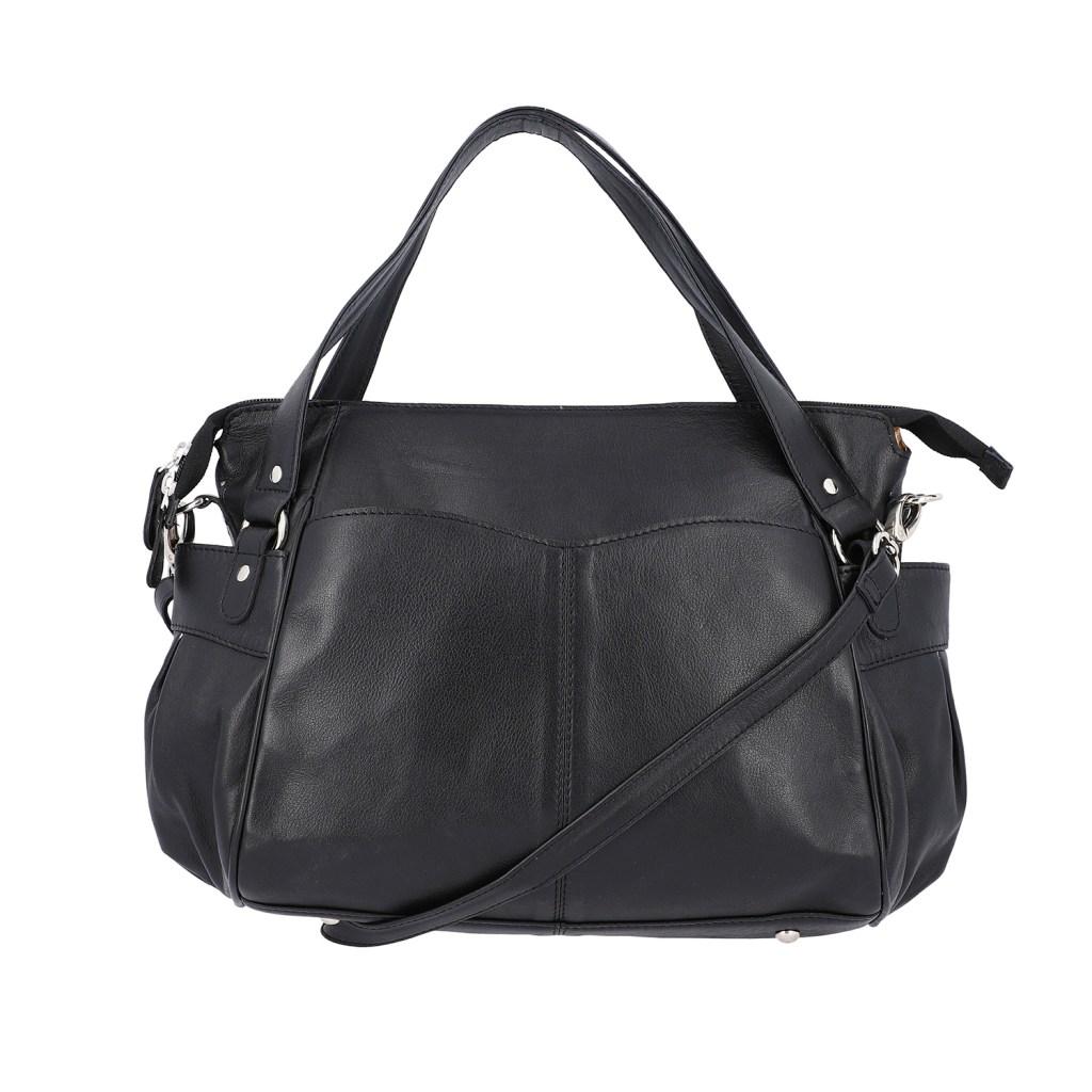 Black sling bag.