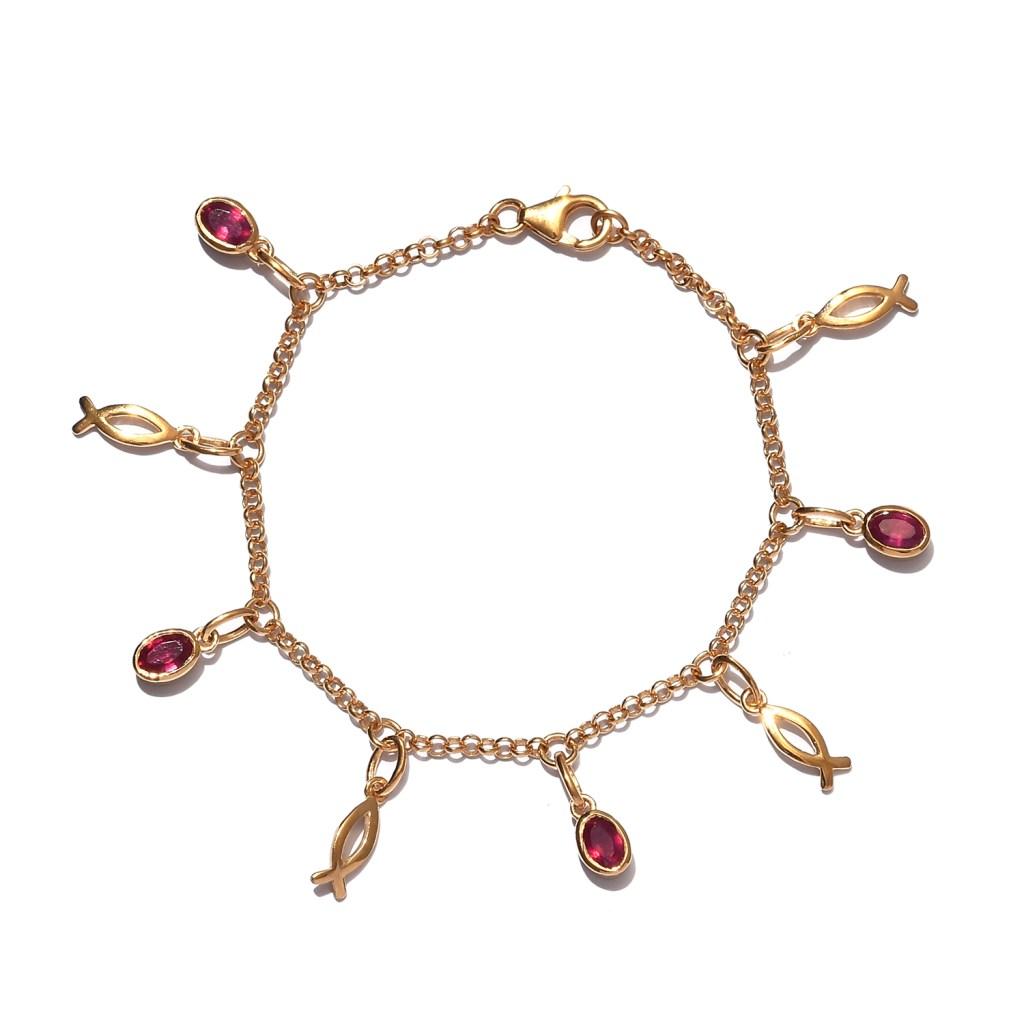 Christian jewelry gold fish bracelet.