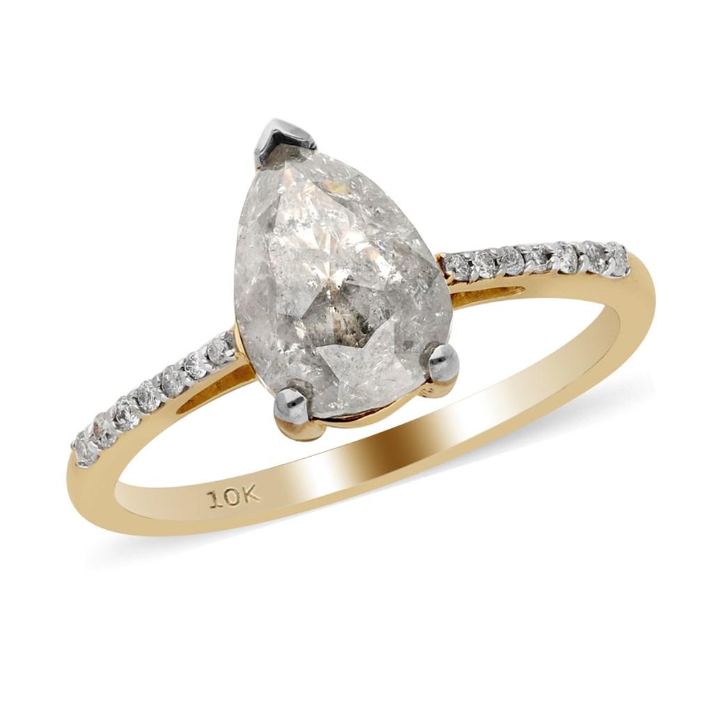 Salt and pepper diamond ring.