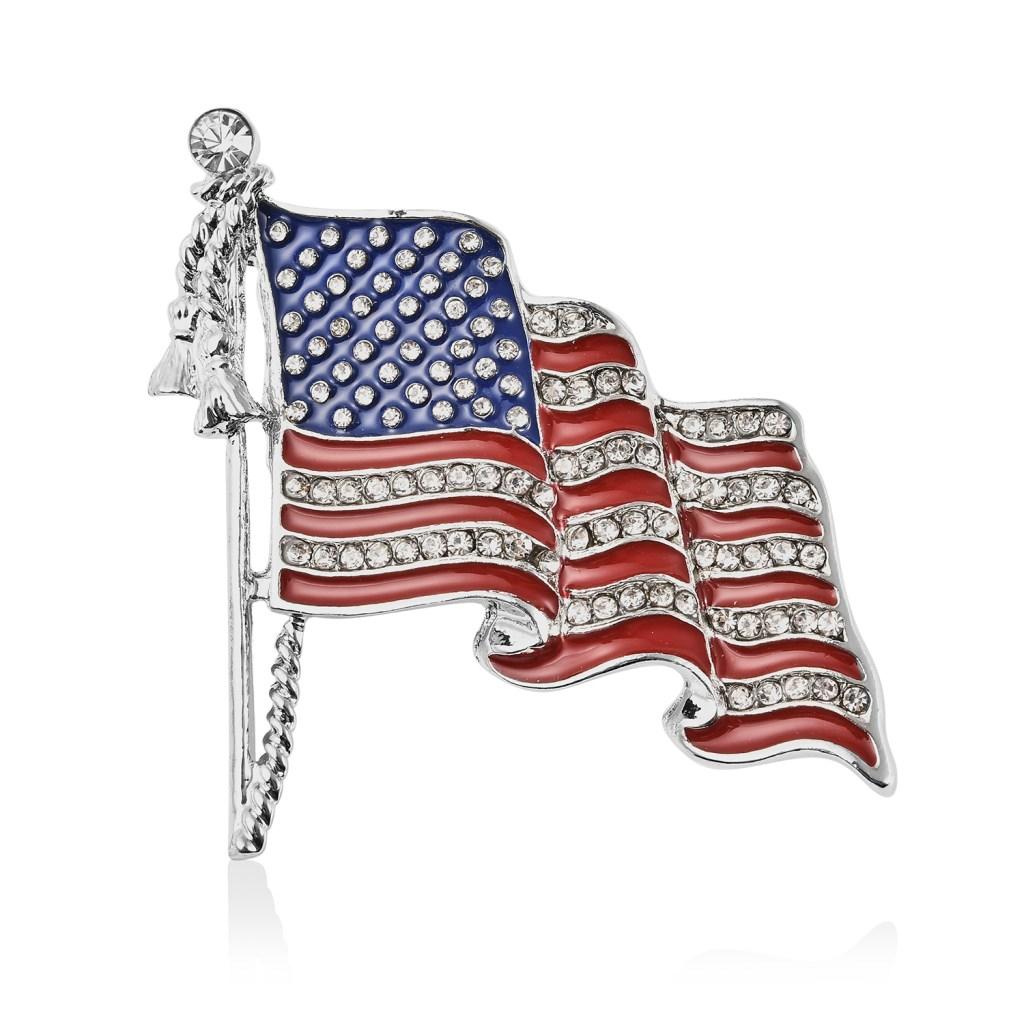 American flag enamel brooch.