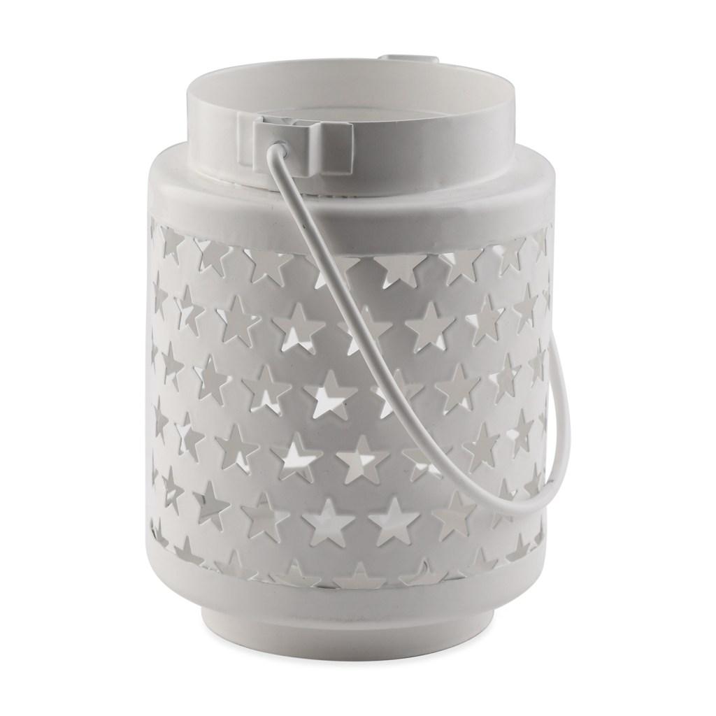 White decorative lantern.