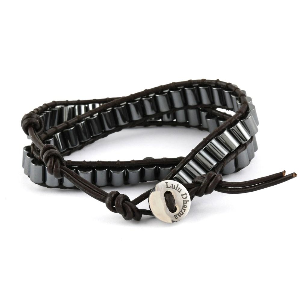 Lula Dharma hematite bead bracelet.
