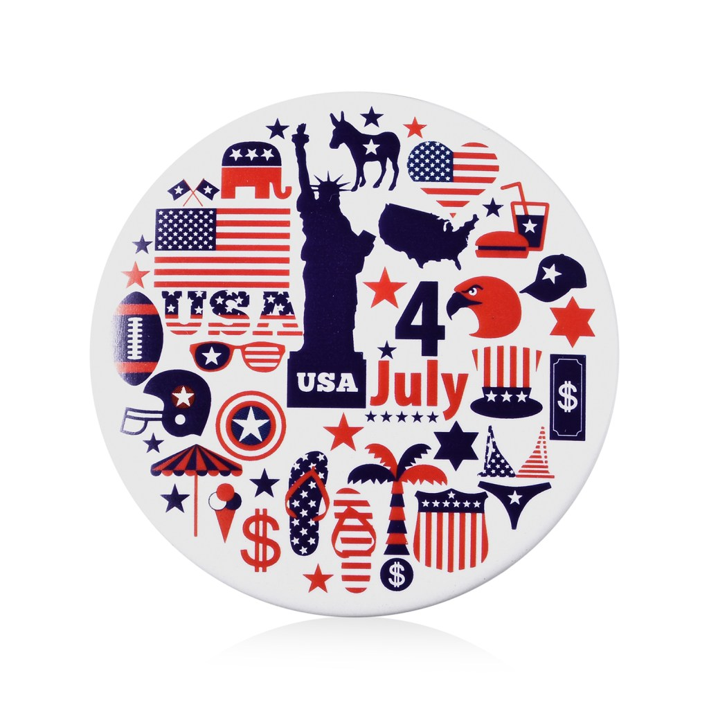 Independence Day brooch.
