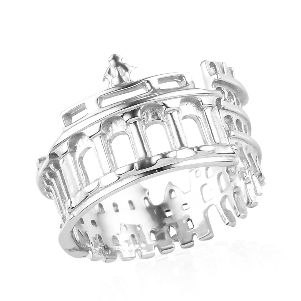 Sterling Silver Rome ring.