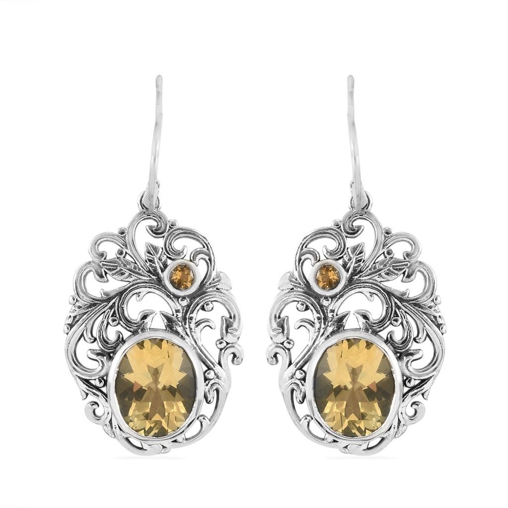 Yellow gem earrings.